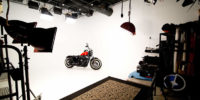 Cyclorama and Motorcycle